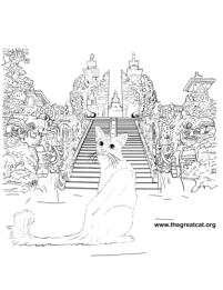 Balinese Cat from Cat Breeds Coloring Book One by L.A. Vocelle