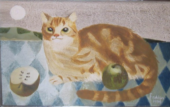 Cat and Apple, Mary Fedden