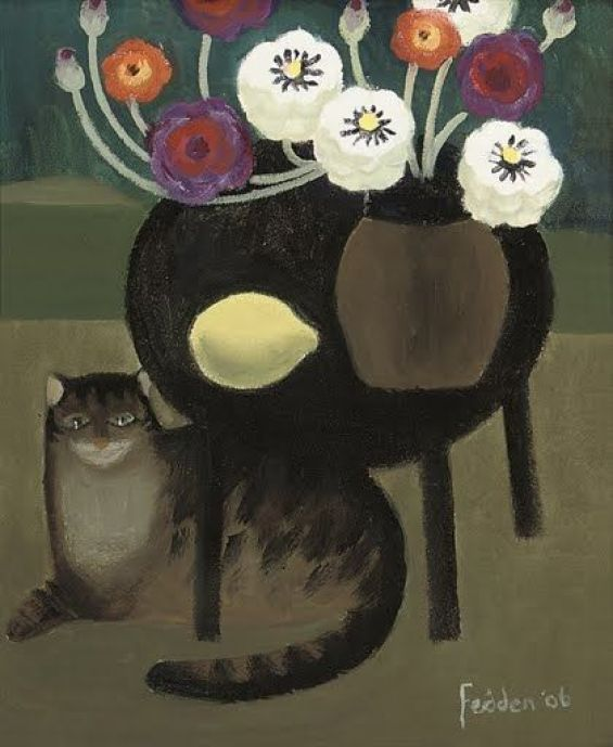 Cat and Lemon, Mary Fedden