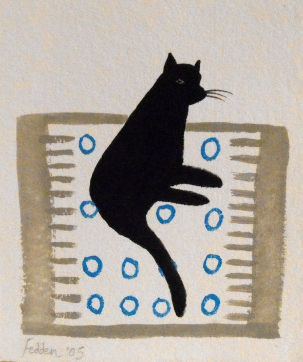 Cat on a Rug, Mary Fedden