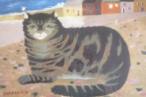 Mary Fedden Cat on Cornish Beach large