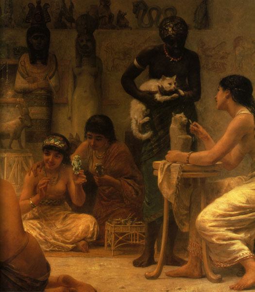 The Gods and their Makers, Detail, 1878, Edwin Longsden Long