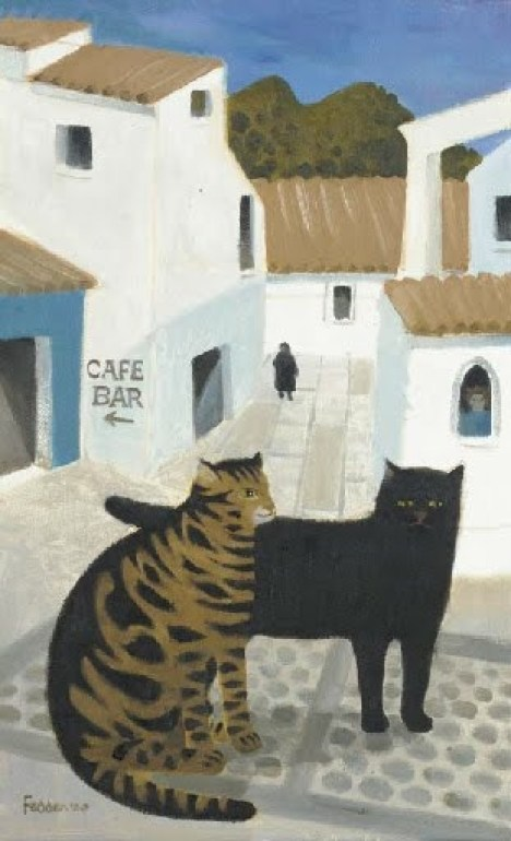 Two Cats, Mary Fedden