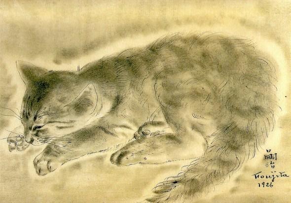 Cat, 1926 Leonard Foujita