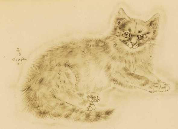 Cat, Tsugouharu Foujita