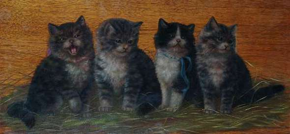 Four Kittens on Board, Bessie Bamber
