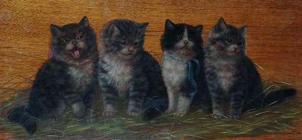 Four Kittens on Board, Bessie Bamber