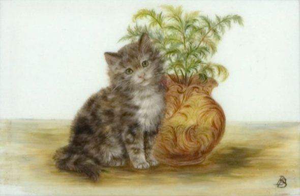Kitten and Plant, Bessie Bamber