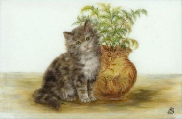 Kitten and Plant, Bessie Bamber