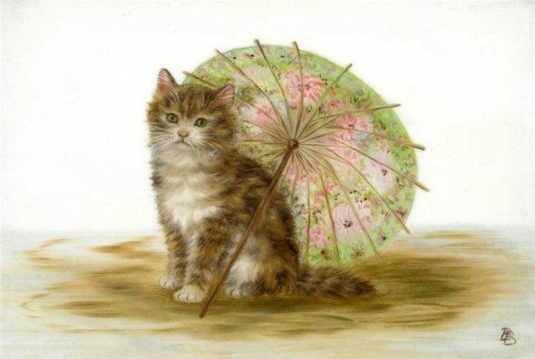 Kitten and Umbrella, Bessie Bamber
