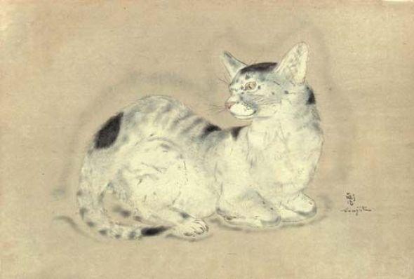 Leonard Foujita, Black and White Cat