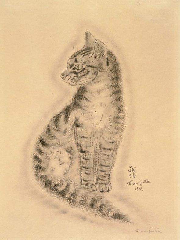 Seated Cat, Tsugouharu Foujita