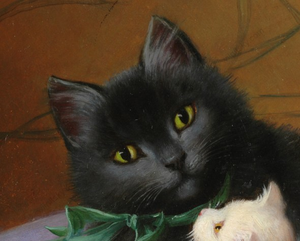 Sophie Sperlich, Detail Mother Cat and Kittens