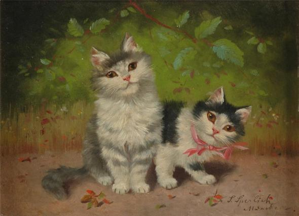 Sophie Sperlich, Two Kittens