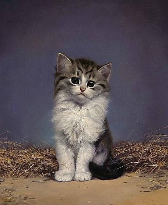 Tabby and White Kitten, Bessie Bamber