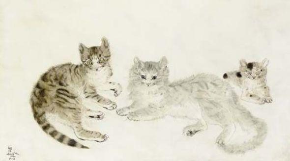 Three Cats, Tsugouharu Foujita