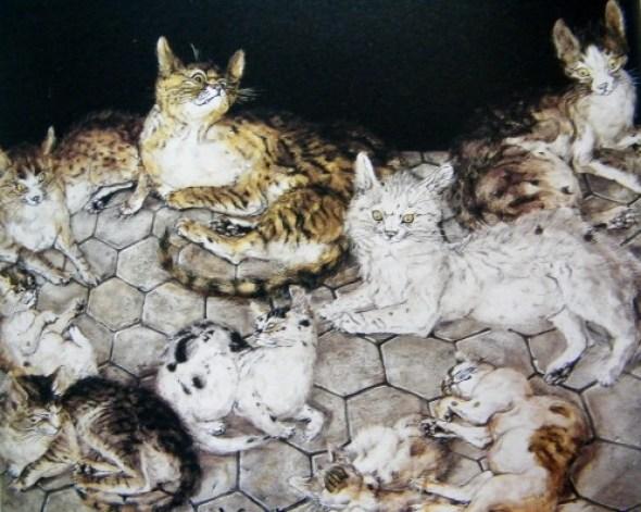 Tsugouharu Foujita, Cats