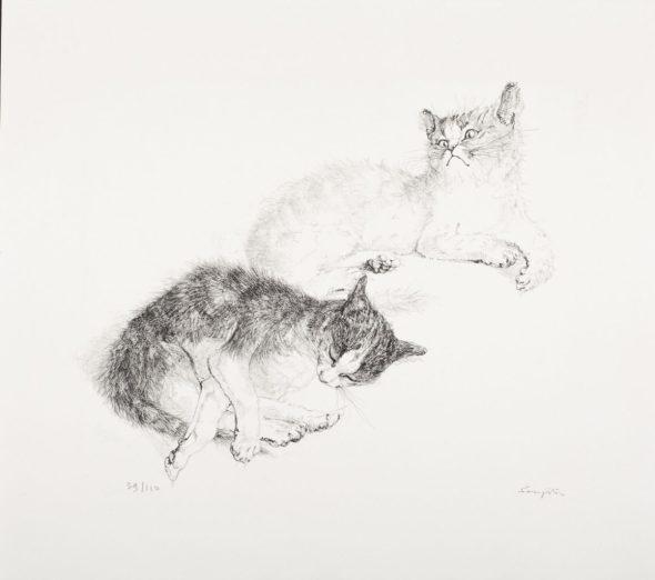 Tsuguharu Foujita, Two Cats
