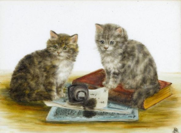 Two Kittens and Spilled Ink, Bessie Bamber