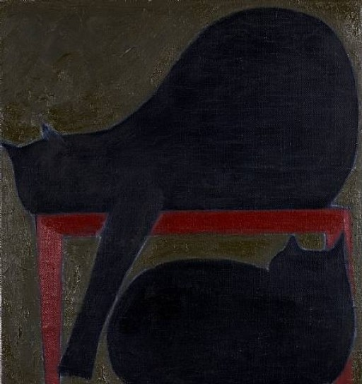Two Cats (red chair), Will Barnet