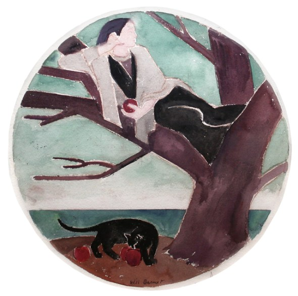Will Barnet, Woman, Cat and Tree