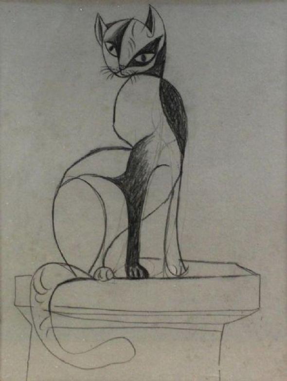 10-John Craxton Cat