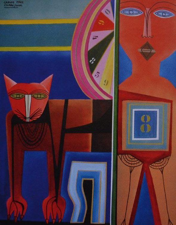 Carlos Paez Vilaro, Eight, cats in art