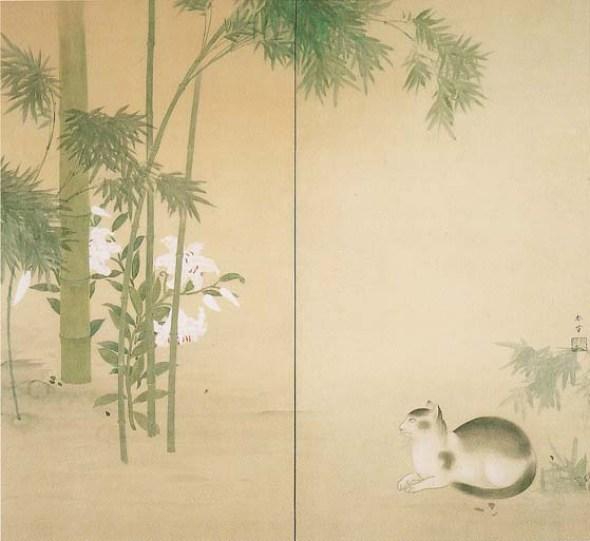 Bamboo and Cat, Hishida Shunso