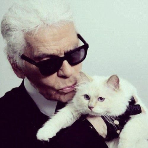 Choupette and Karl Lagerfeld
