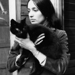 Joan Baez and cat