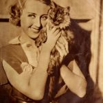 Joan Blondell and cat, famous cat lovers