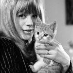 Marianne Faithfull and cat