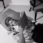Michael Landon and cat