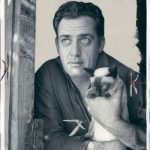 Raymond Burr and cat, famous cat lovers