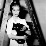 Veronica Lake and cat, famous cat lovers