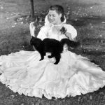 Yvonne de Carlo and cat, famous cat lovers