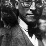 Andre Gide and cat