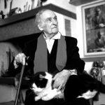 Andrea Zanzotto and cat