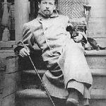 Anton Chekhov and cat