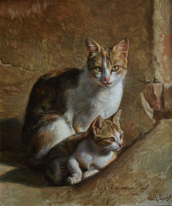 Antonio Guzman Capel-5, cats in art