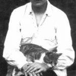 Dmitri Shostakovich and cat