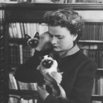 Elsa Morante and her cats.