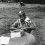 Francoise Sagan and cat