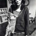 Joey Ramone and cat