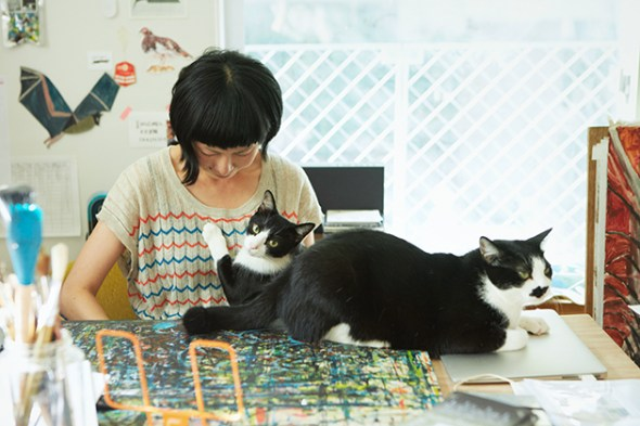 Miroco Machiko and cat 3