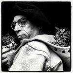 Paul Gallico and cat