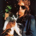 Roger Taylor of Queen with cat