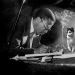 Thelonious Monk and cat