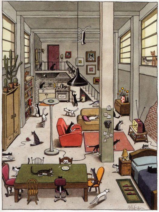 1-Franco Matticchio Cat cartoon