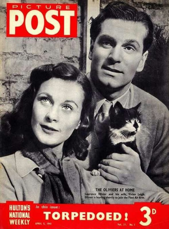 Vivien Leigh and Laurence Olivier, 1941